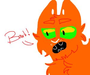 A barking cat