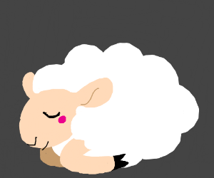 a little sheep who's taking a nap