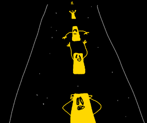 Road lines with arms