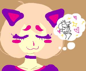 Kawaii Cat Girl waits for Prince Senpai