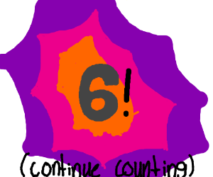 5! (continue counting)