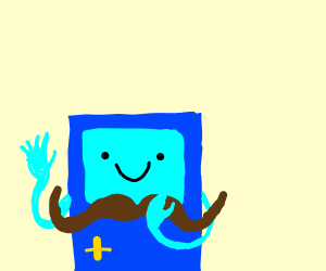 cute robot with a mustach