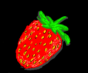 very detailed strawberry