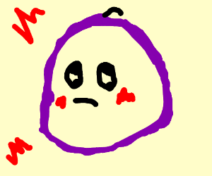 a big, fluffy, pissed-off grape