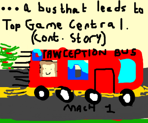Sick of derailments, Drawception D takes a bus