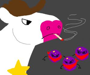 Cow cop vs grape bandits