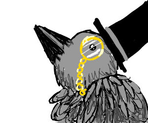 Crow with monocle