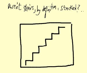 A bunch of stairs stacked on each other