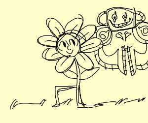 Happy walking flower