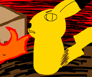 Pikachu during an apocalypse.