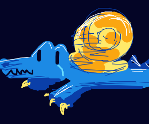 snoc (half snail half croc) - Drawception