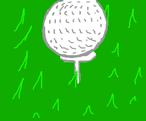 Golf Ball on the T