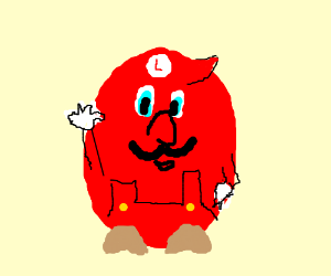 Red Luigi as an egg