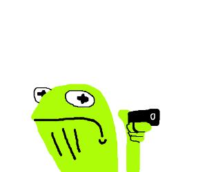 Hey motherfuckerd it's me, Kermit. With a gun.