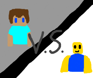 Minecraft Vs Roblox Fan Fic Drawception