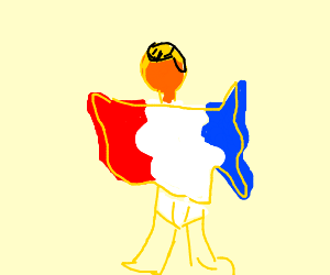 America w/ flag colors wearing tighty whities