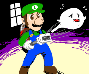 Luigi vaccums ghosts