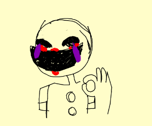 Puppet [FNAF] but laughing crying emoji t pose