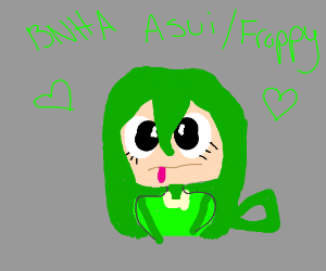 MHA Froppy! girl with frog tongue - asui