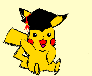 Pikachu graduation. Drawception