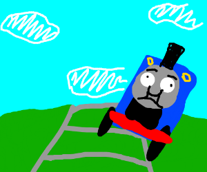 A train derailing