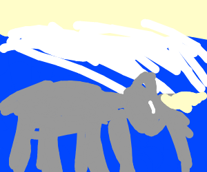 Rhinolephant under a wave