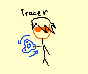 Overwatch Character using a fidget spinner