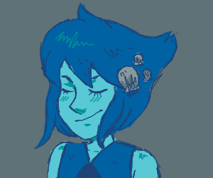 Lapis with Shells on her hair