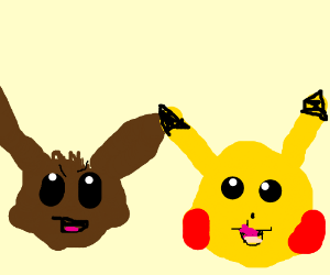 Pokemon Let's Go! Pikachu and Eevee - Drawception