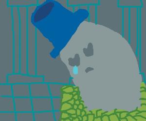 Napstablook (Undertale) is Sad.