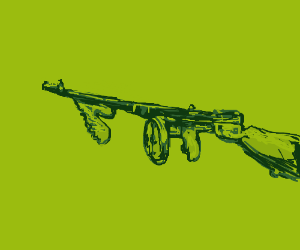 Tommy gun(Thompson sub machine gun)