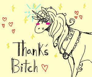 unicorn thanks u