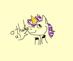 what a cute unicorn!