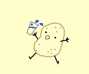 potato drinking water