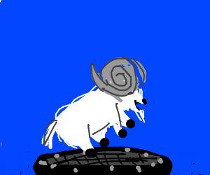 Ram on a trampoline