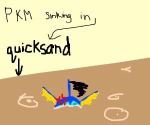 Pokemon sinking in quicksand