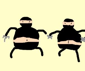 Two fat ninjas