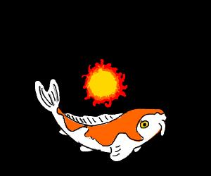Fish Orbiting around the sun