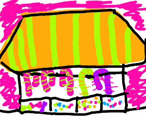 Candy store window