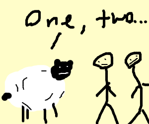 sheep counting people