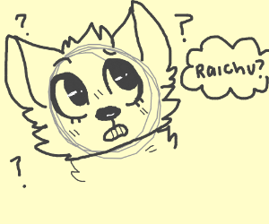 man confused over the word raichu