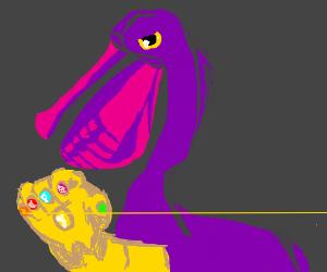 Pelican Thanos with Infinity Gauntlet