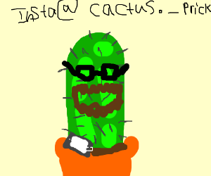 hipster cactus