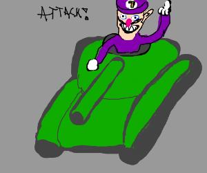 waluigi in a tank