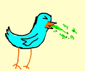 puking bird