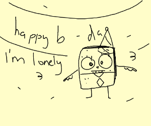 Nobody showed up to Doodle Bob's B-day party