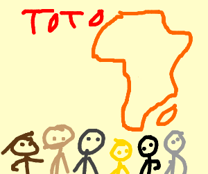 africa by toto drawing by victorhulu