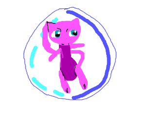 Mew in a bubble