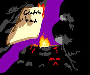Evil Volcano gets bad grades