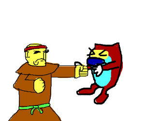 Monk punching not ren